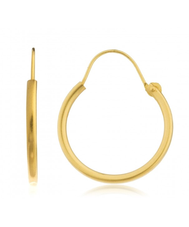 Yellow Simple U Hoop Earrings GO 936
