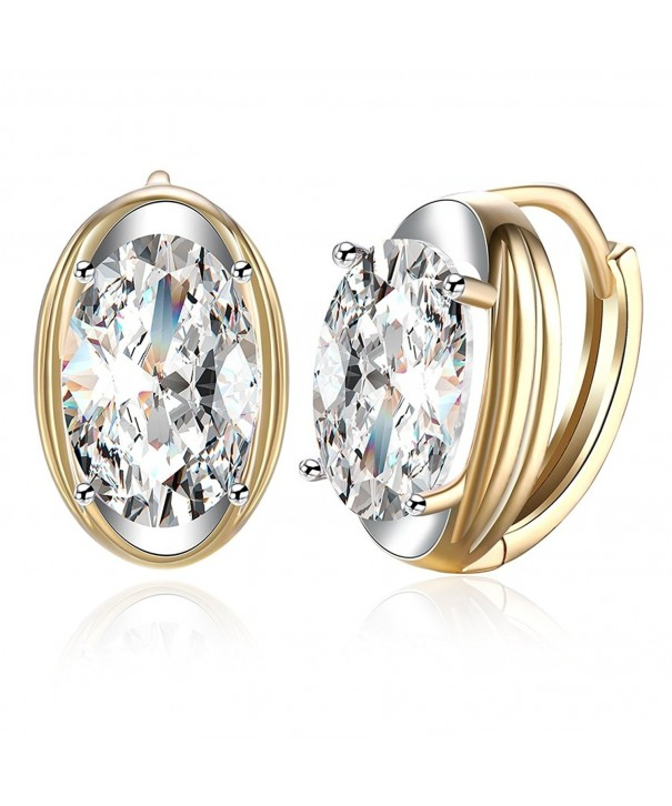 FENDINA Leverback Earrings Champaign Zirconia