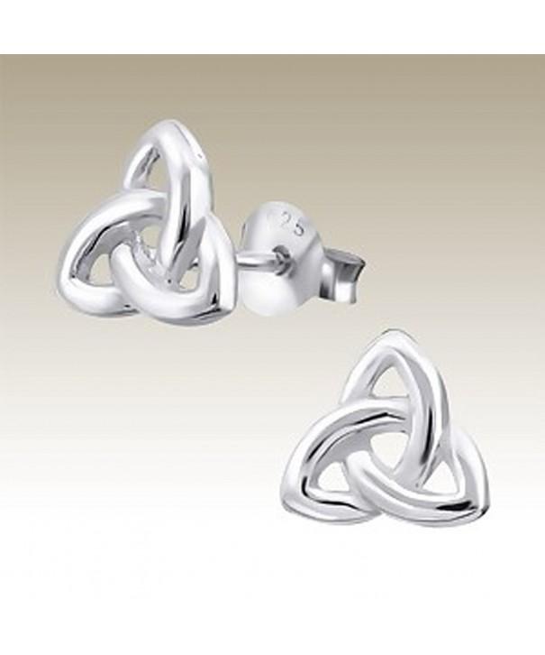 Trinity Celtic Silver Earrings Stering