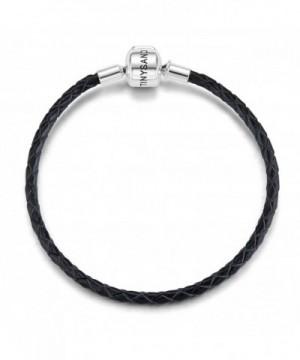 TINYSAND Genuine Leather Bracelet Sterling