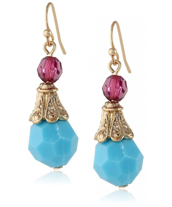 1928 Jewelry Gold Tone Turquoise Amethyst