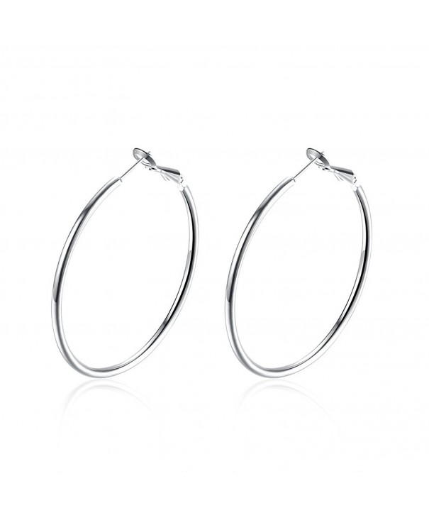BODYA Platinum Plated smooth Earrings