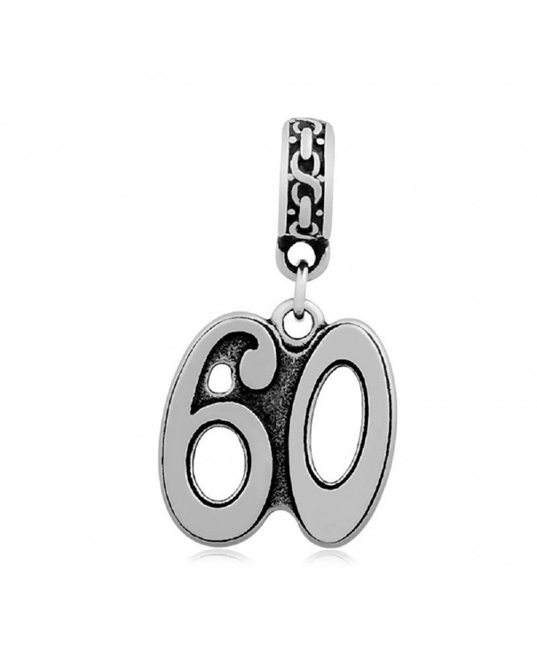 Stainless Steel Dangling Number Charm