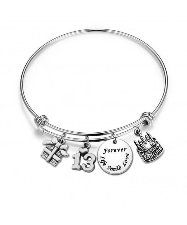 Birthday Bracelet Adjustable Bangle Jewelry