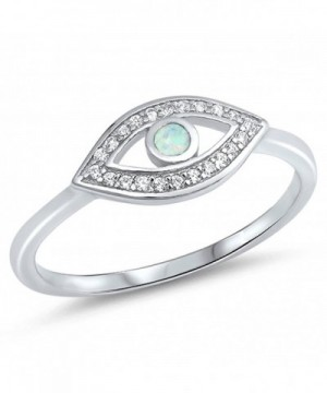 Clear White Simulated Sterling Silver