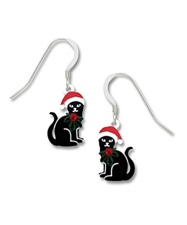 Sienna Sky Earrings Cats Santa