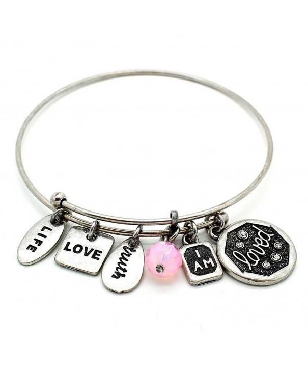 Symbology Loved Bangle Bracelet Silver