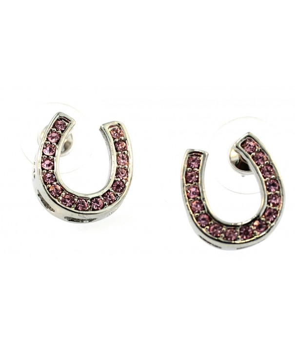 Sora 86001 Crystal Horseshoe Earrings
