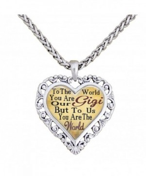 World Silver Necklace Jewelry Grandmother