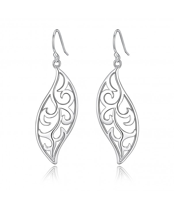 Polished Sterling Filigree Fluttering Earrings