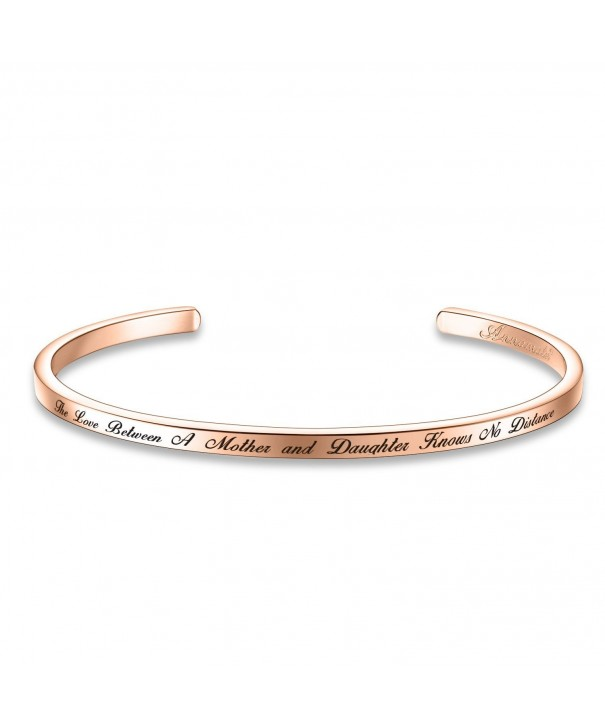 Between Daughter Distance Inspirational Bracelet