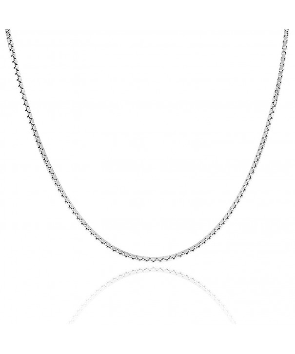 Sterling Silver Chain Italian Necklace