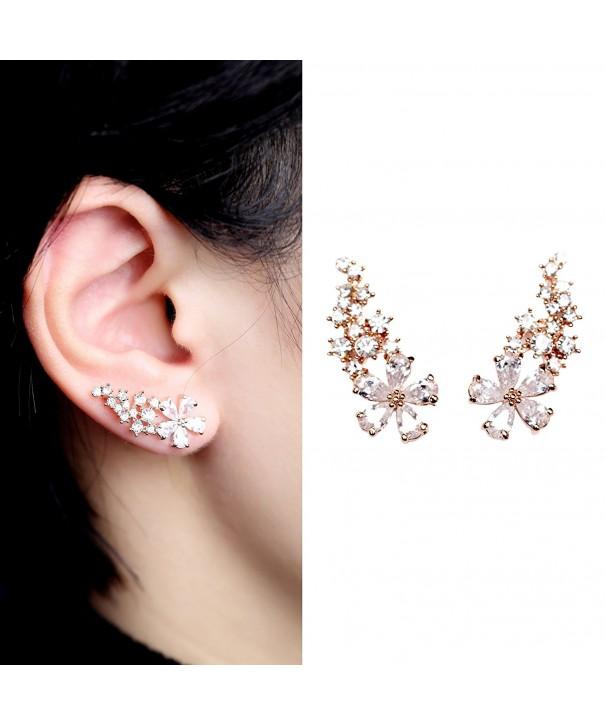 EVERU Womens Crystal Earrings Pierced