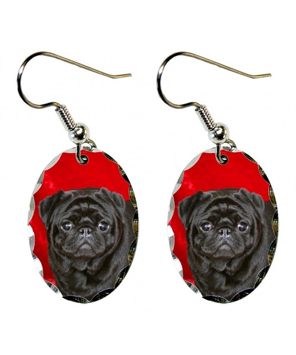 Canine Designs Scalloped Edge Earrings