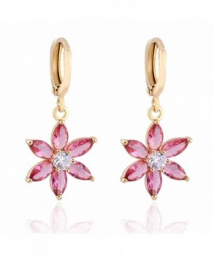 YAZILIND Charming Flower Zirconia Earrings