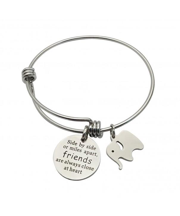CAROMAY Bracelet Elephant Friendship Stainless