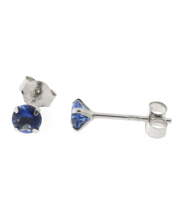 White 25tcw Simulated Sapphire Earrings