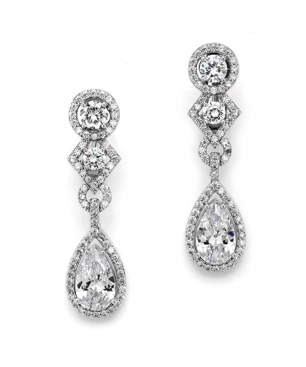Mariell Earrings Dangles Silver Weddings