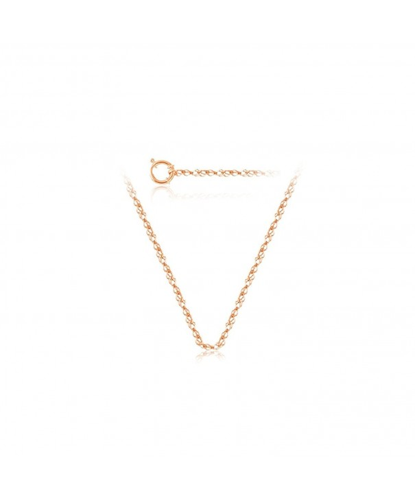 Singapore Chain Rose Gold inches