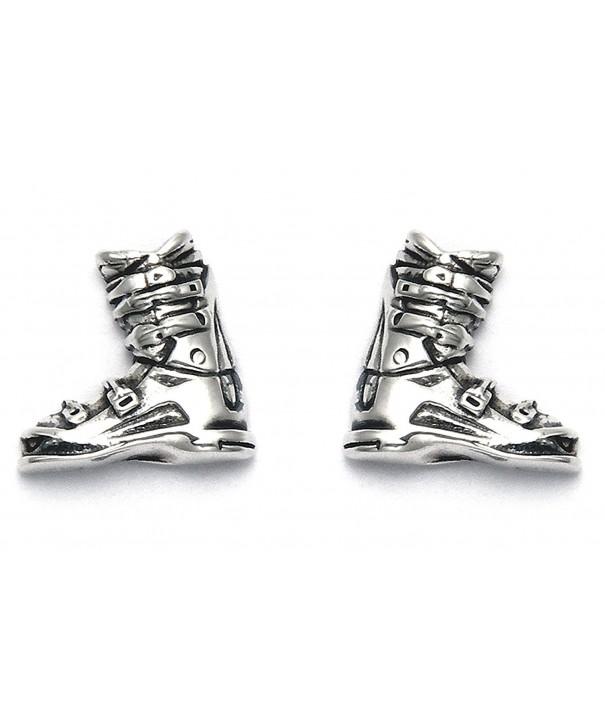 Sterling Silver Boot Stud Earrings