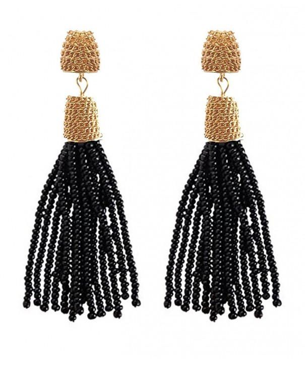 VK Accessories Fringe Dangle Earrings