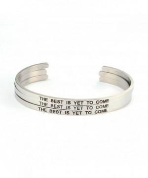 Best Come bangle bracelet engraved