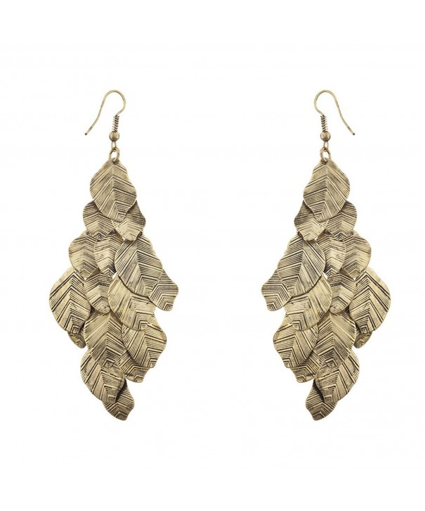 Lux Accessories Burnish Chandelier Earrings