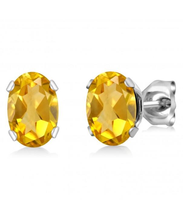 Yellow Citrine Sterling Silver Earrings