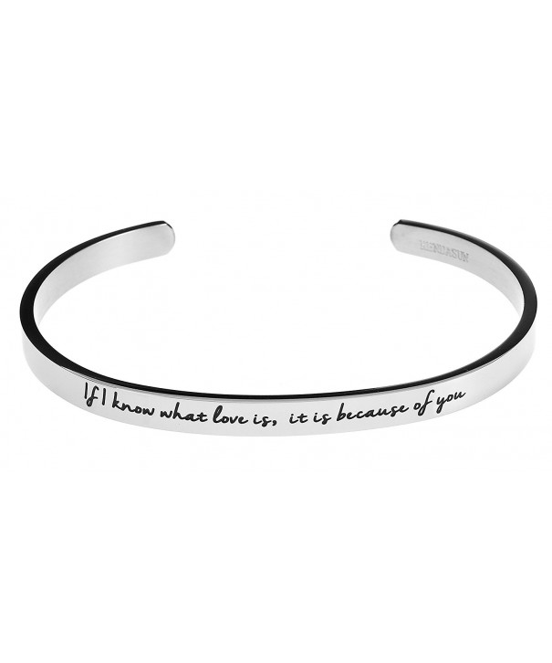 because Inspirational Bracelet Bangle White