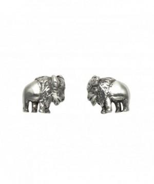 Tiny Sterling Silver Buffalo Earrings