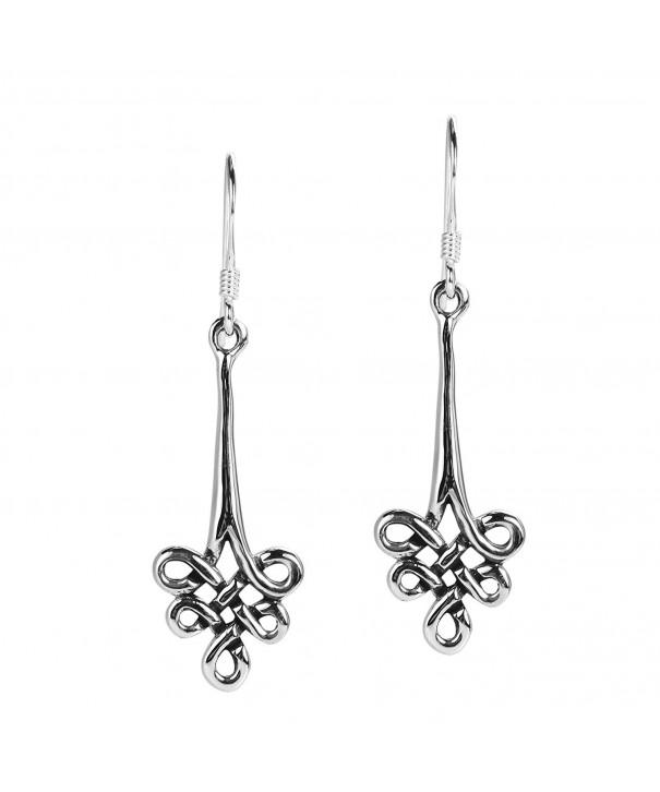 Infinite Celtic Symbol Sterling Earrings