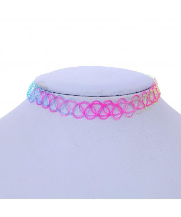YAZILIND Colorful Vintage Stretch Necklace