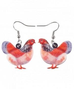 Acrylic Chicken Earrings Design Lovely