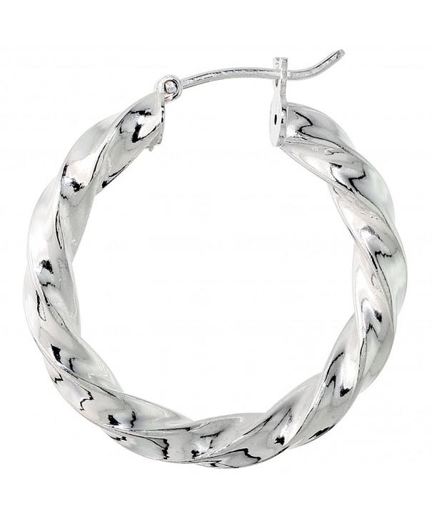 Sterling Silver Italian Earrings Twisted