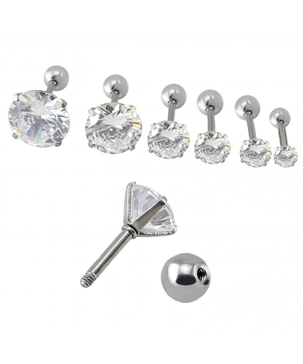 Cartilage Earring Earrings Tragus Piercing 6 Pairs Steel Cl12nz7fqpg
