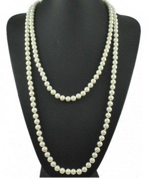 Pearls Flapper Cluster Necklace Gatsby