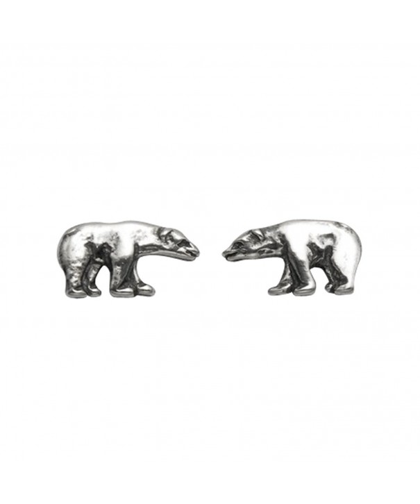 Small Sterling Silver Polar Earrings