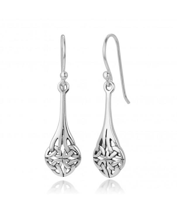 Oxidized Sterling Inspired Teardrop Earrings