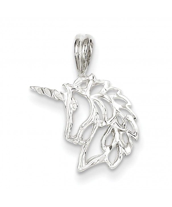 Sterling Silver Unicorn Head Charm