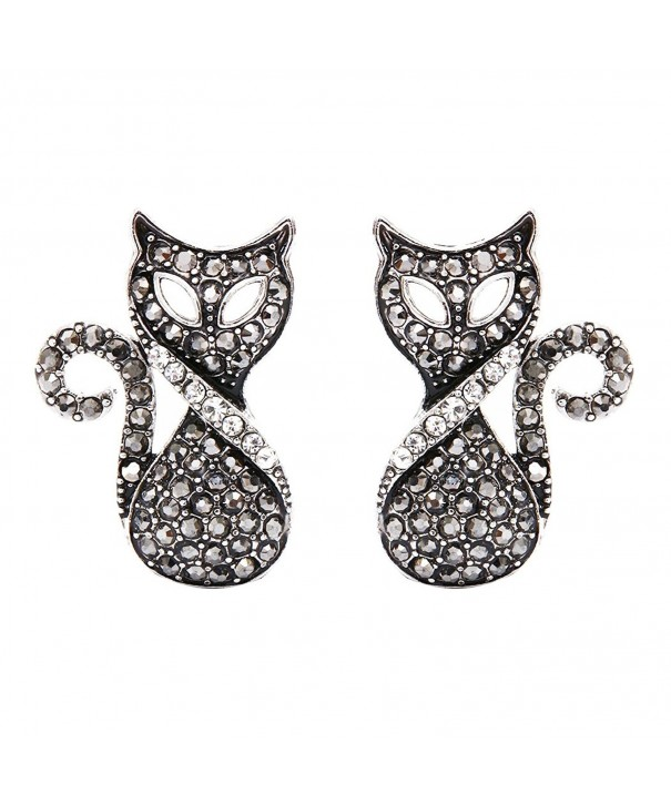 DaisyJewel Fancy Marcasite Rhinestone Earrings