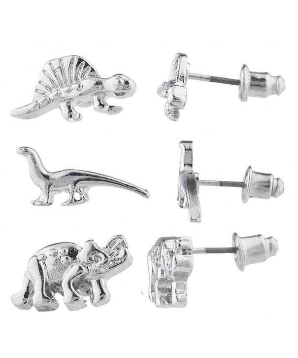 Lux Accessories Dinosaur Jurassic Earring