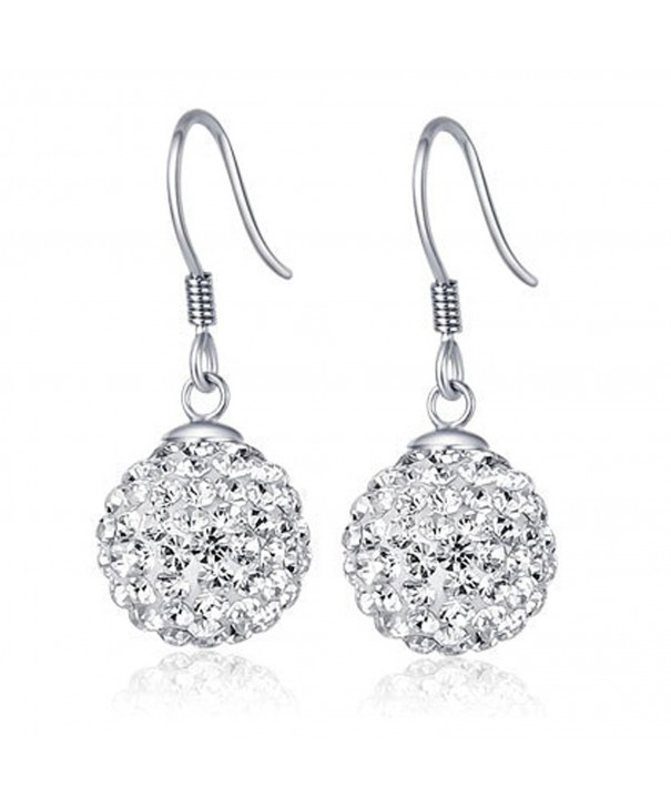 Chaomingzhen Sterling Silver Crystal Earring