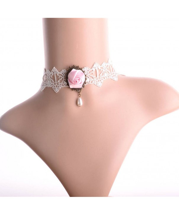 Charm L Grace Flower Pendant Necklace