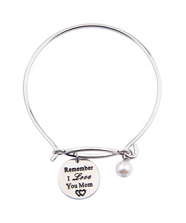 Remember Bracelet Keychain Engraved Inspirational