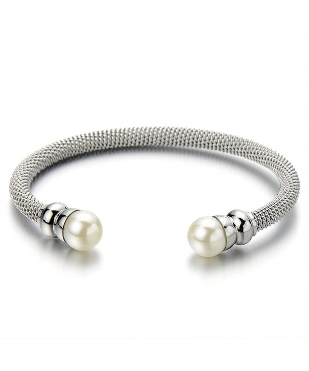 Classic Stainless Twisted Bracelet Synthetic