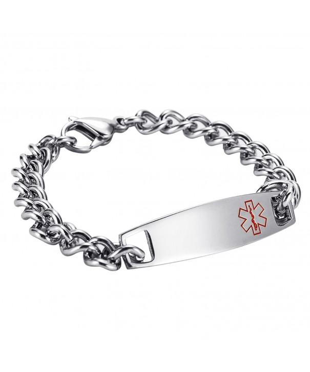 HooAMI Stainless Medical Bracelet Engraving