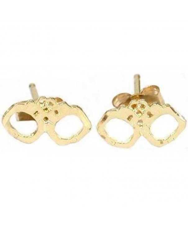 FindingKing 19333 Gold Handcuff Earrings