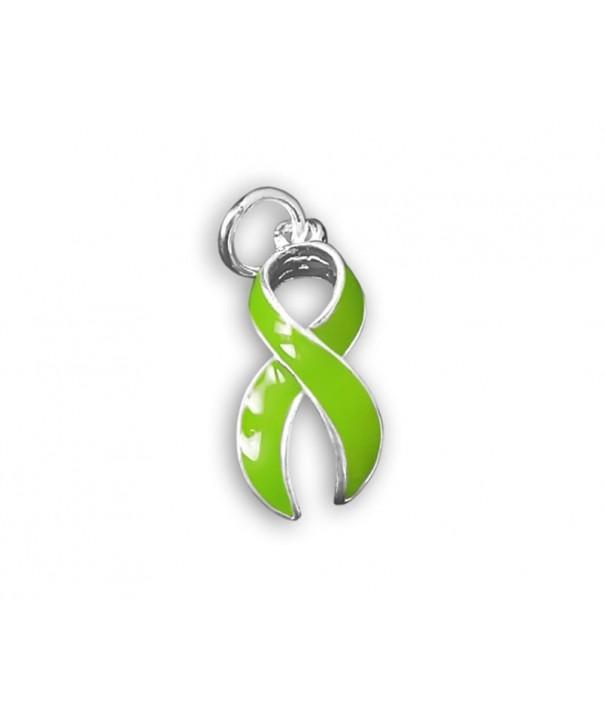 Green Ribbon Charm Large Retail