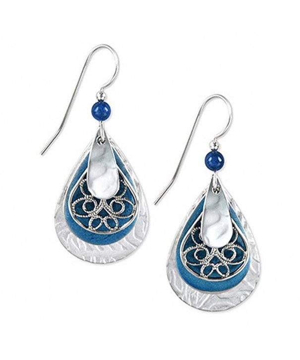 Silver Forest Teardrop Dangle Earrings