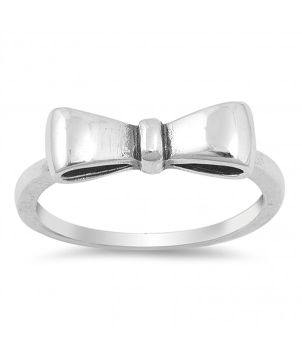 Oxidized Ribbon Fashion Sterling Silver
